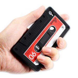 iPhone 4 or 4S Cassette Tape Case - comes in Black, Blue, Pink & Beige