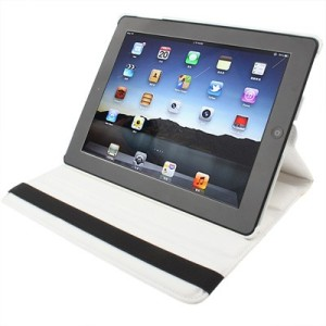 iPad 2/3/4 - White 360 Degree Leather Case
