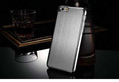 Silver Metal Brushed iPhone 6 Case