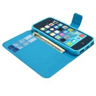 Sea Striped Waves Leather Wallet iPhone 5, 5S & SE Case