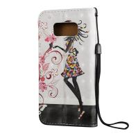 3D Flower Fairy Pattern Flip Leather Samsung Galaxy S8 PLUS Case 2