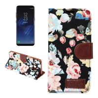 Black Cotton Print Texture Leather Wallet Samsung Galaxy S8 Case