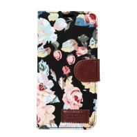 Black Cotton Print Texture Leather Wallet Samsung Galaxy S8 Plus Case 2