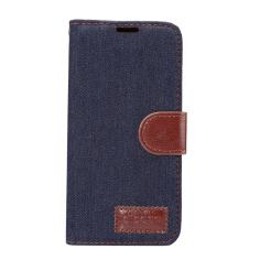 Black Denim Texture Leather Wallet Samsung Galaxy S8 Case 2