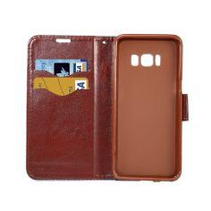 Black Denim Texture Leather Wallet Samsung Galaxy S8 Case 4