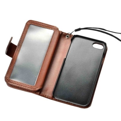 Brown Horizontal Flip Leather Wallet iPhone 7 Case 3
