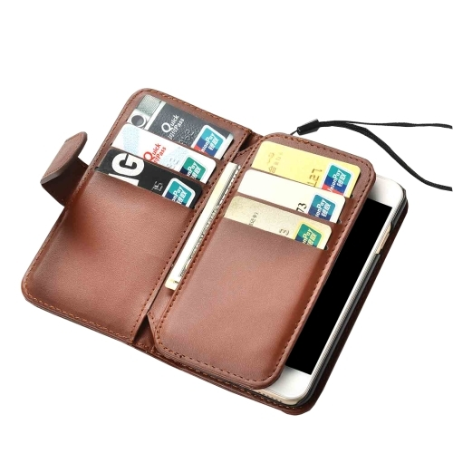 Brown Horizontal Flip Leather Wallet iPhone 7 Case.jpg