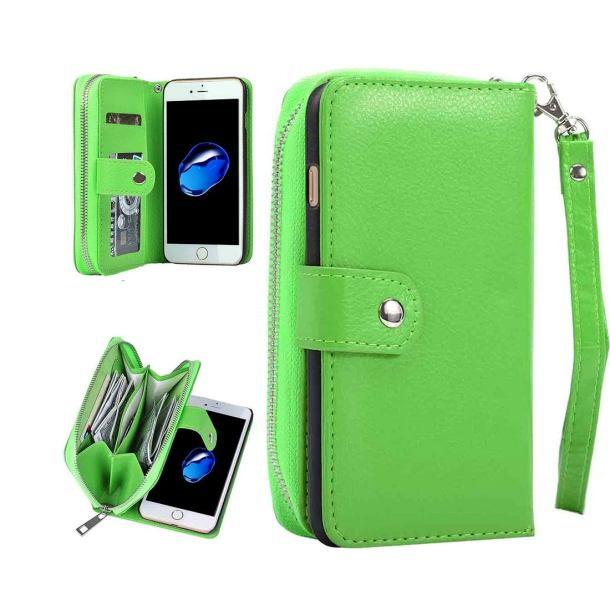 Green Multifunctional Separable Leather Wallet iPhone 7 Case.jpg