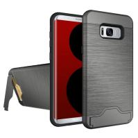 Grey Brushed Card Slot Armor Samsung Galaxy S8 PLUS Case