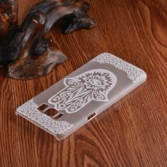 Palm Shape Flower Transparent Samsung Galaxy S8 Case 1