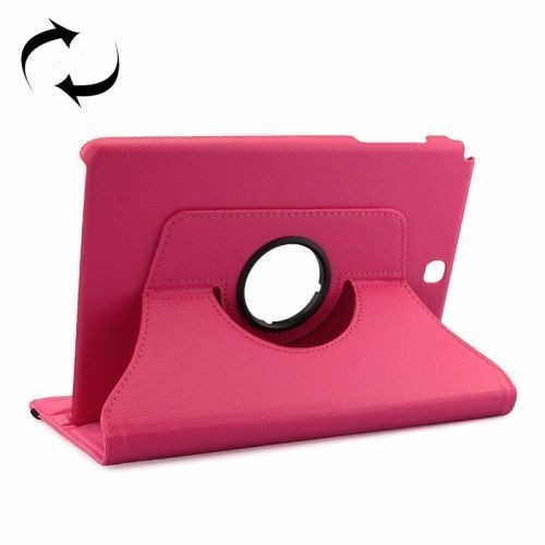 Magenta Rotatable Leather Samsung Galaxy Tab A 9.7 Case