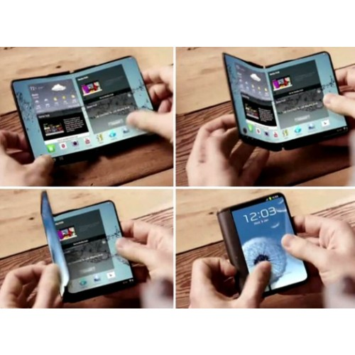 Foldable Samsung phone in 2018